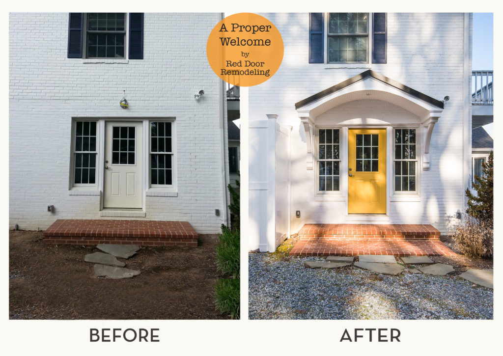 Portico addition by Red Door Remodeling